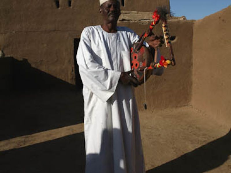 A Nubian singer in Sudan