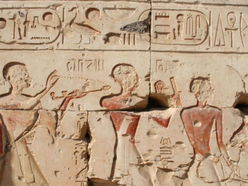 A relief from the temple of Rameses II
