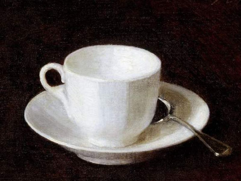 Cup and saucer by Henri Fantin Latour