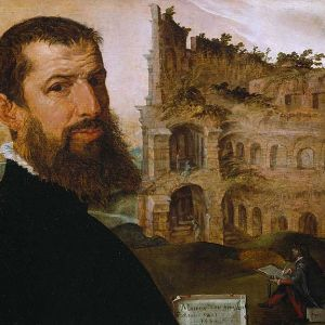 Self-portrait, with the Colosseum, Rome