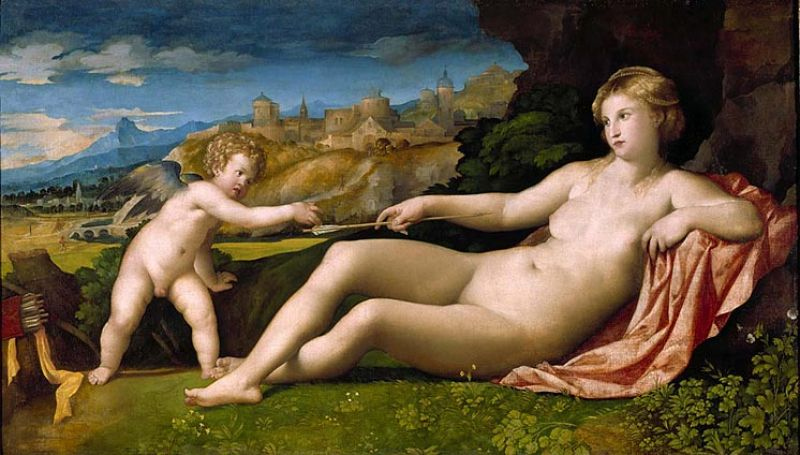Featured image for the project: Venus and Cupid in a Landscape