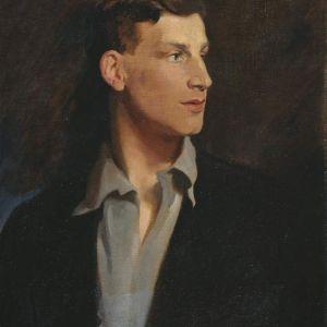 A portait of Sigfried Sassoon by Glyn Philpott Warren