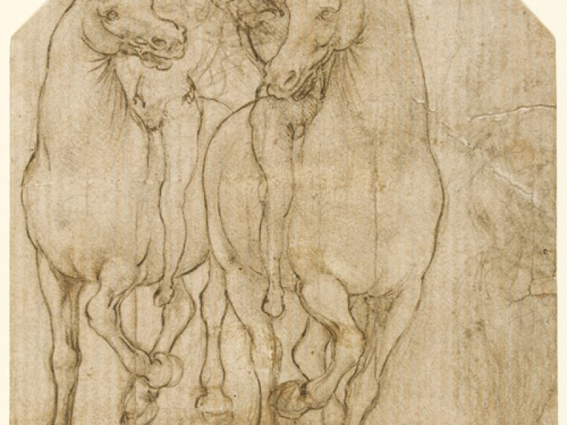 Leonardo da Vinci, Two Horsemen. PD. 121-1961