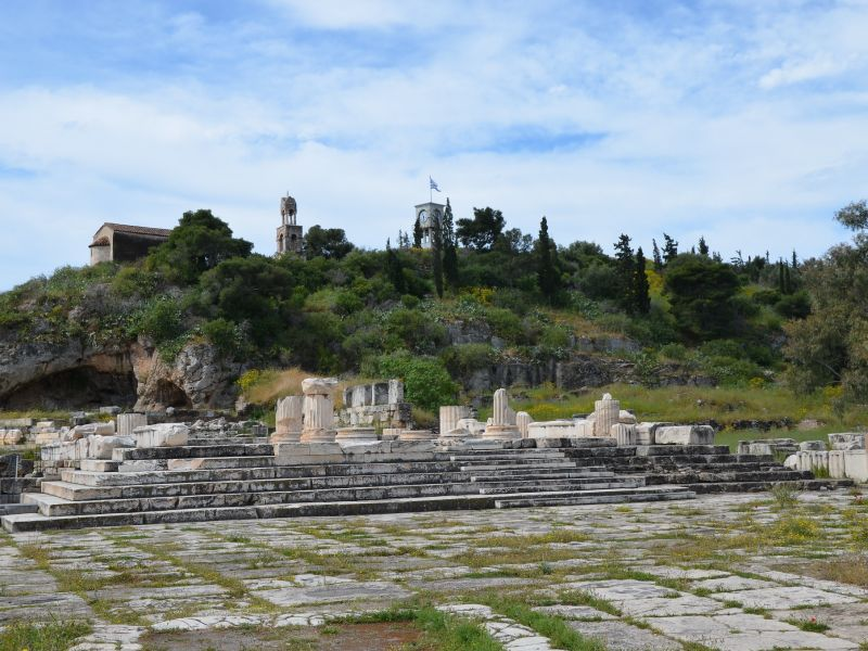 The ancient site of Eleusis, image by Carol Raddato, used under creative common cc by sa