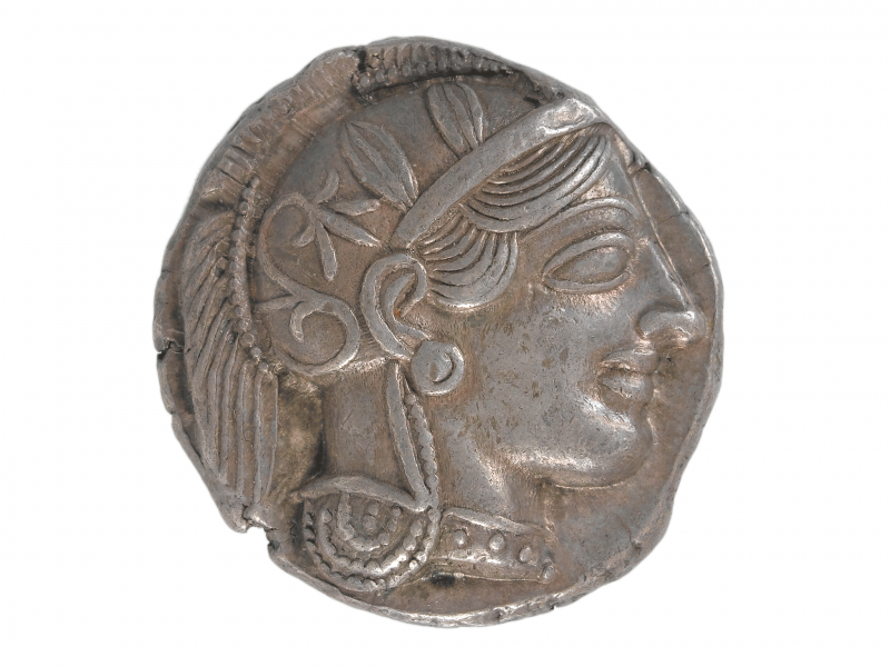 A silver four drachm from Athens