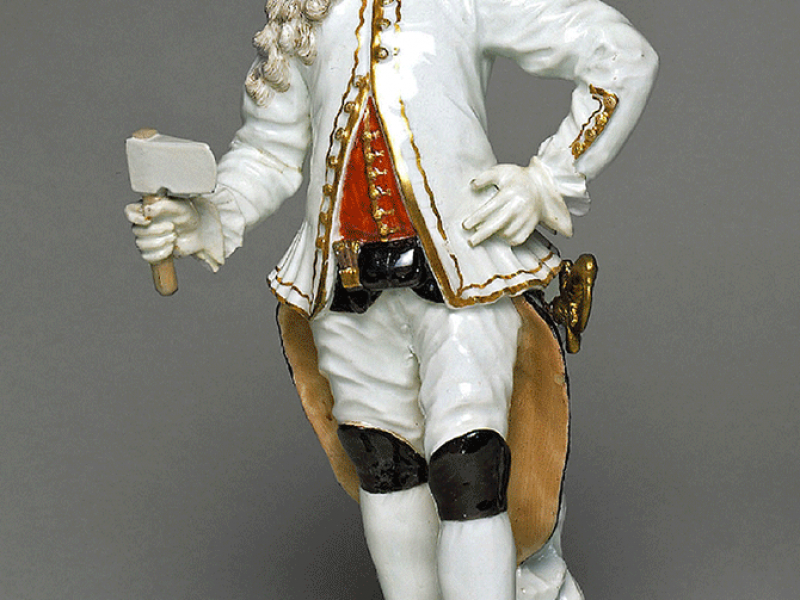 A figure of a mine commandant