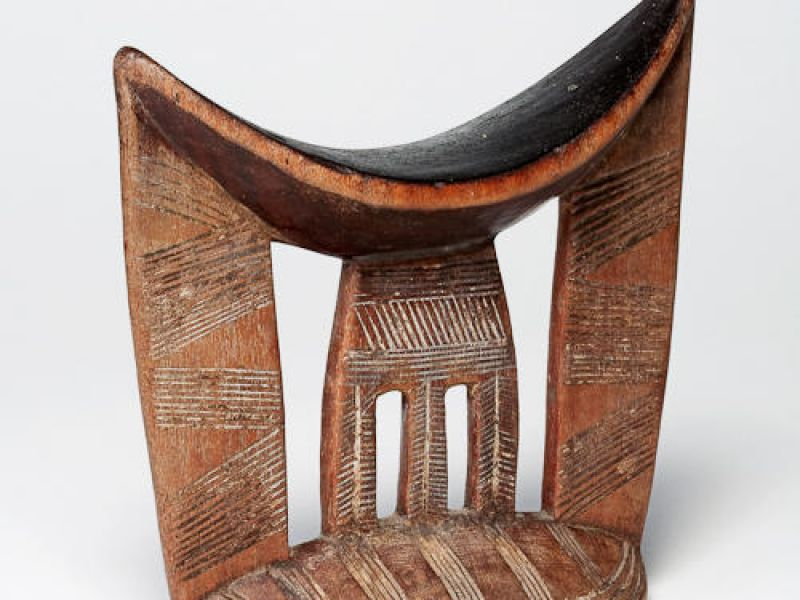 Wooden headrest from Ethiopia, Gurage or Arsi