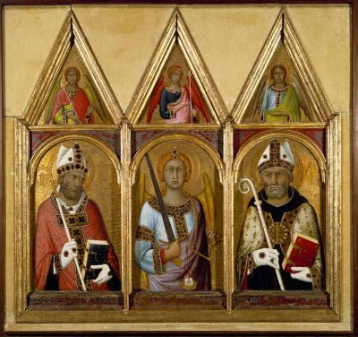 Saints Geminianus, Michael and Augustine, with angels above