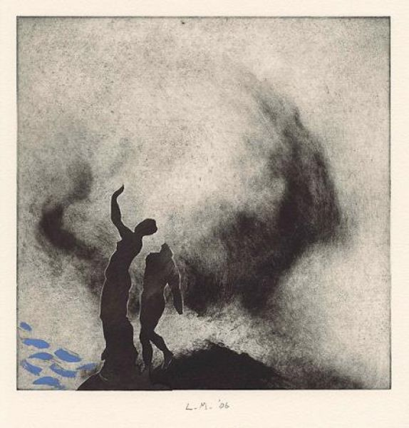 Featured image for the project: Clouds and Myths:  Monotypes by Lino Mannocci