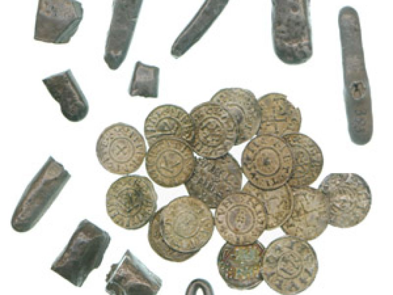 Ingots and coins from the Cuerdale (Lancs.) hoard