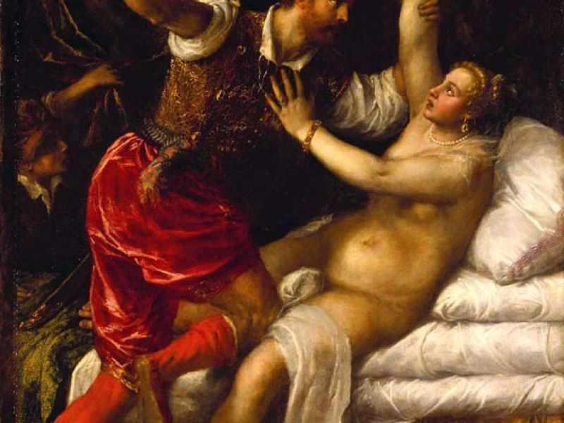 Tarquin and Lucretia, painted by Titian
