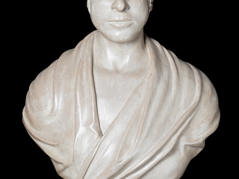 A bust of George Basevi