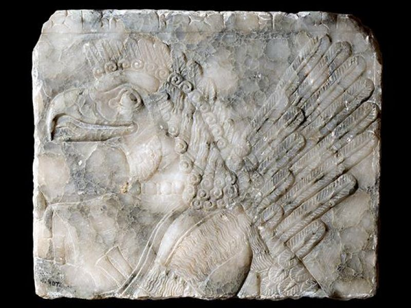 A winged eagle headed depiction from the Near East