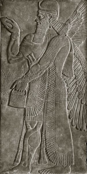 Featured image for the project: Relief with Winged Deity