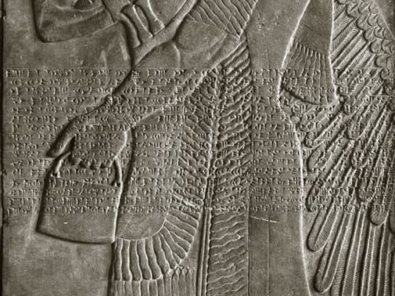 Highlight image for Relief with Winged Deity