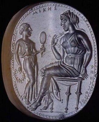 An engraved gemstone