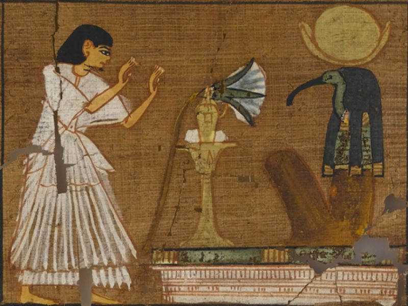 Vignette from Spell 95, for being in the presence of Thoth, Book of the Dead of Ramose