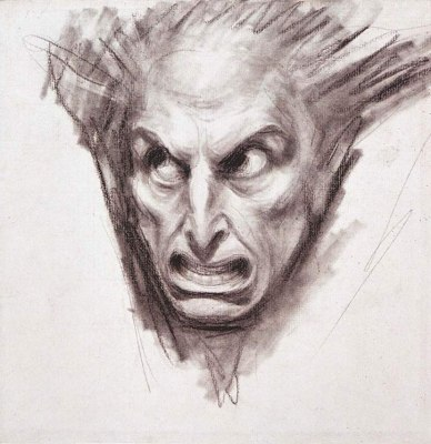 Study for a fiend's head