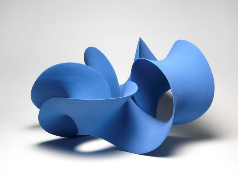 Twisted Blue Form by Merete Rasmussen
