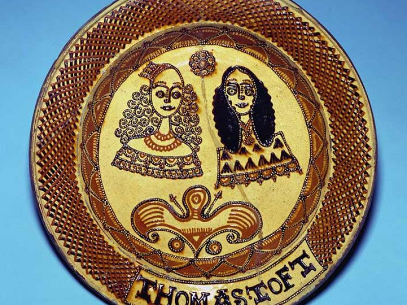 Slipware plate - Thomas Toft
