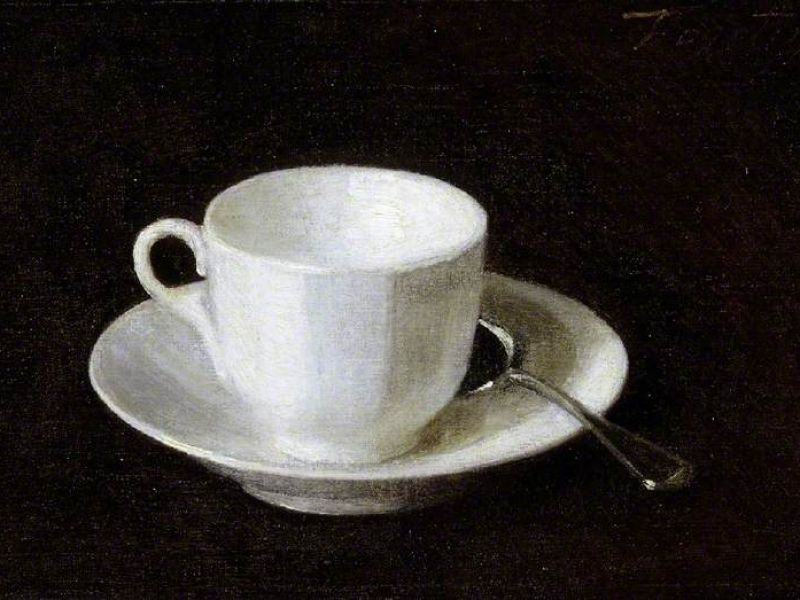 White Cup and Saucer painted by Henri Fantin-Latour © The Fitzwilliam Museum, University of Cambridge