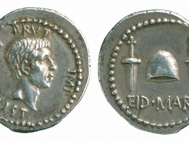 A silver denarius of Brutus - EID MAR