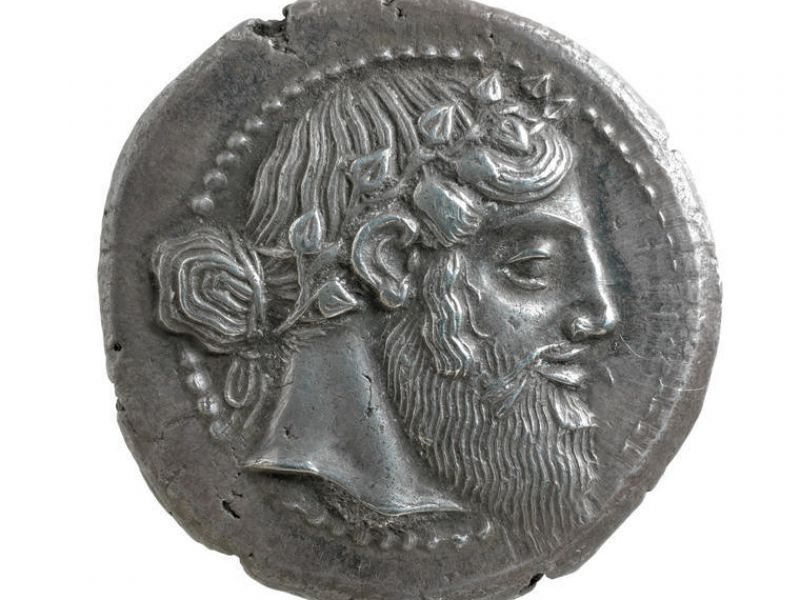 A tetradrachm from Naxos, Sicily (CM.MC.2466-R)