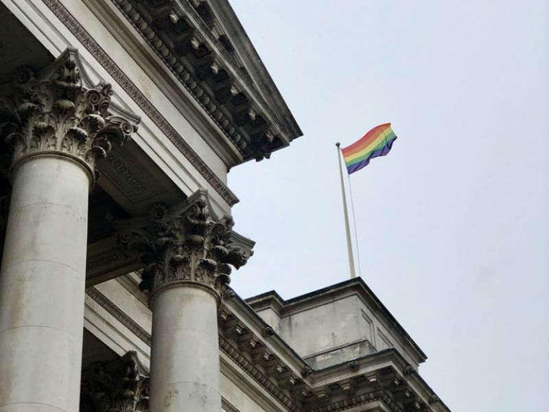 A highlight image for Flying the flag for Cambridge Pride