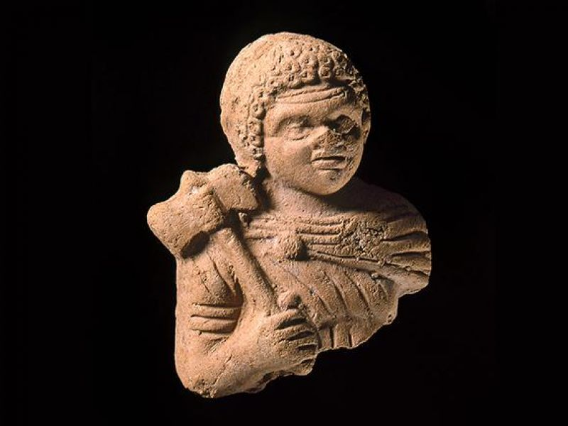 Clay figure of a warrior