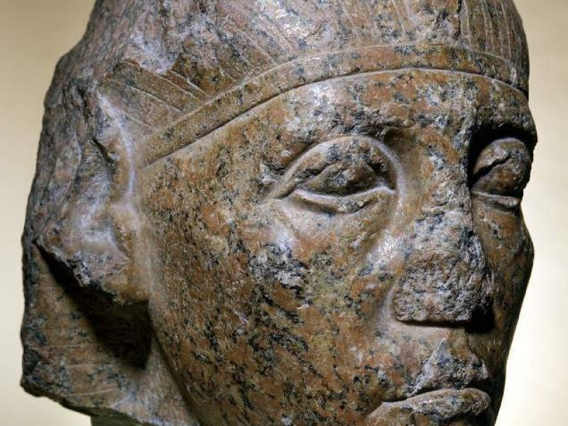 A granite statue of Senusret III (E.37.1930)