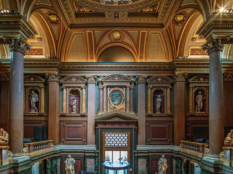 Fitzwilliam Museum interior entrance showing the casts