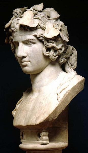 Featured image for the project: Bust of Antinous as Dionysos
