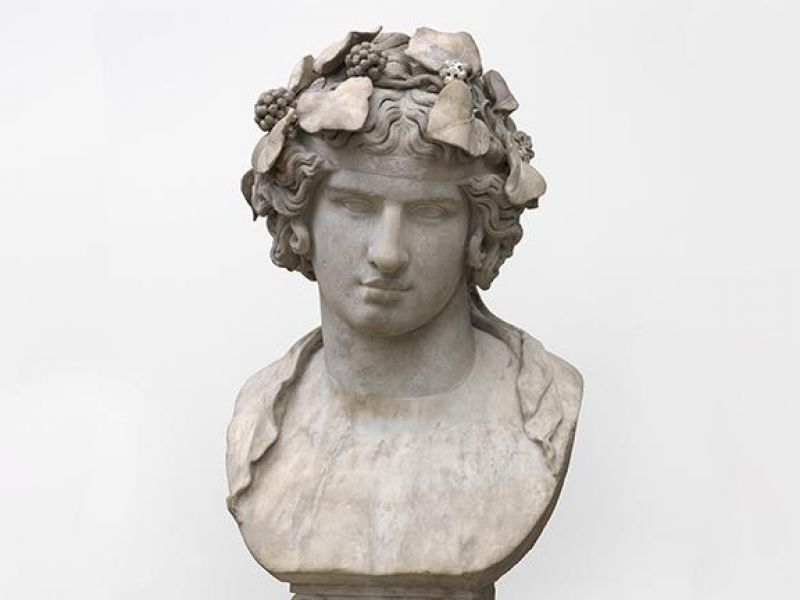 The head of Antinous as Dionysus