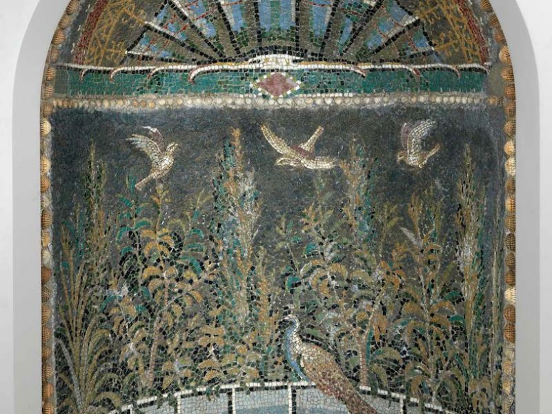 Roman mosaic niche