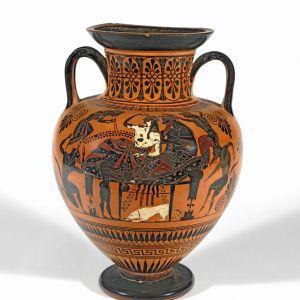 Athenian Neck-Amphora with Dionysus and Ariadne