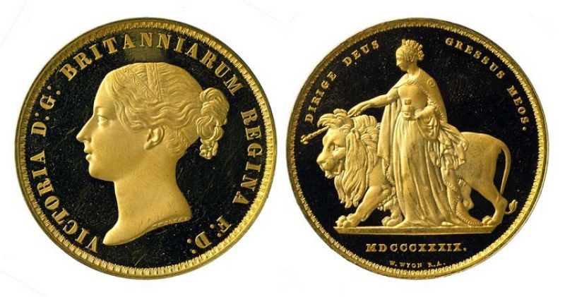 Featured image for the project: £5 Coin of Queen Victoria, England, 1839