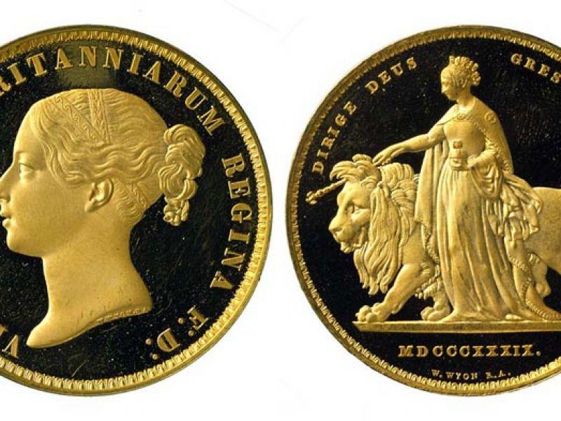 £5 coin of Queen Victoria, England, 1839