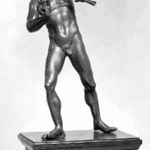 M.36-1997 - satyr playing his double pipe