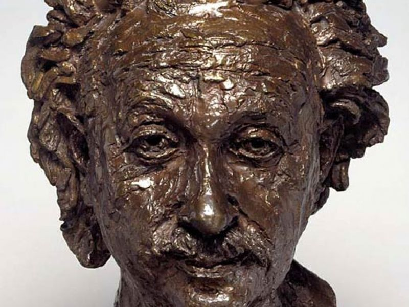 A bust of Albert Einstein by Jacob Epstein