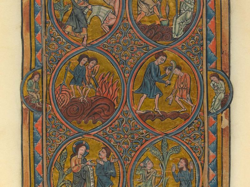 Headline: Cain and Abel, William de Brailes Psalter