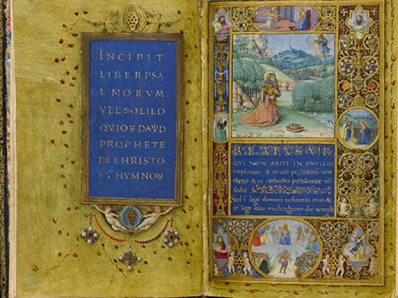 An illuminated manuscript