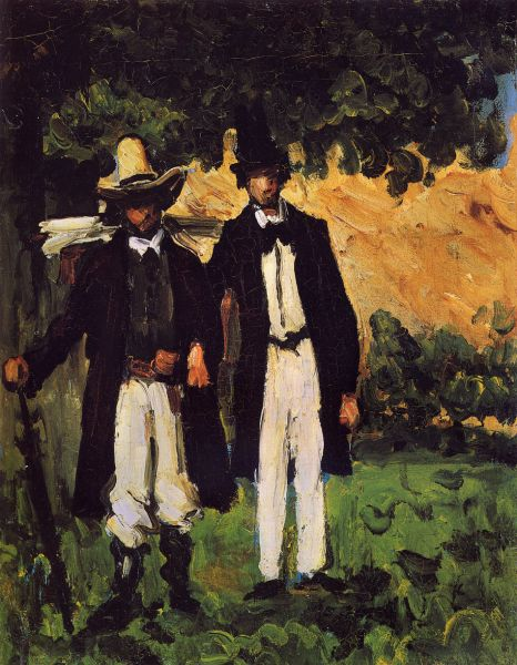 Featured image for the project: Paul Cézanne, Marion and Valabrègue Setting out to Paint from Nature, 1866