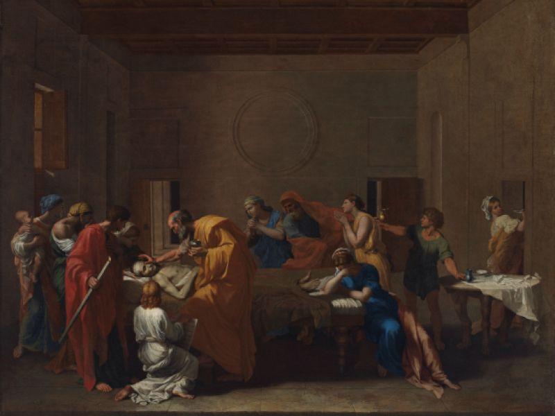 Nicolas Poussin's Extreme Unction, c.1638-40