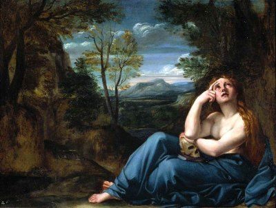 Mary Magdalene in a landscape