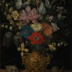 Still-life with flowers, by Georg Flegel [PD.12-1996]