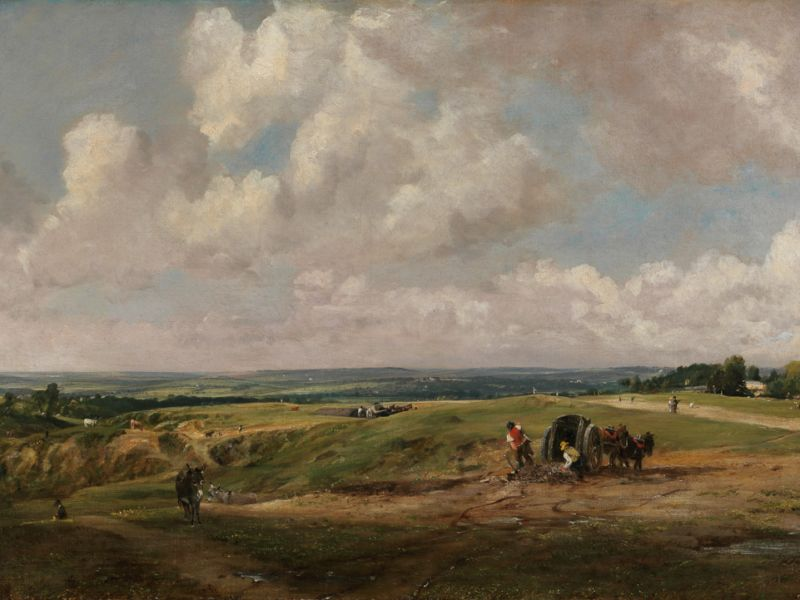 Hampstead Heath by John Constable (PD.207-1948)