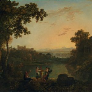 Four Seasons dancing in a landscape to the accompaniment of the god's lyre [PD.27-1952]