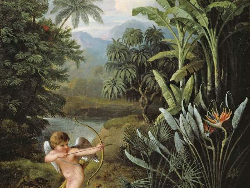 Cupid inspiring the plants with love by Philip Reinagle (PD.65-1974)