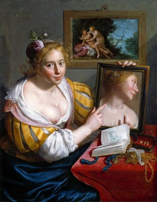 A Girl with a Mirror