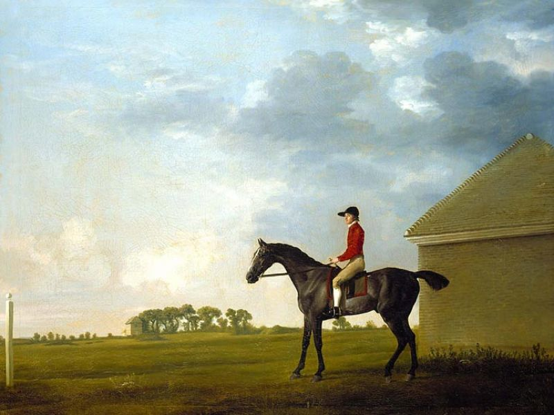 Gimcrack with John Pratt up on Newmarket Heath, c.1765